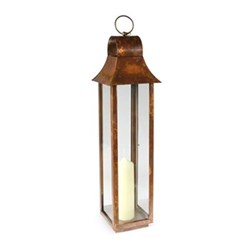 Tonto Lantern - medium, 80 x 19 x 19cm, burnished copper