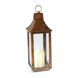Tonto Lantern - small, 50 x 19 x 19cm, burnished copper