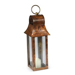 Tonto Lantern - extra small, 38 x 10 x 10cm, burnished copper