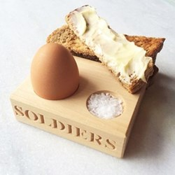 Egg salt and soldiers holder 3.2 x 13 x 10.5cm