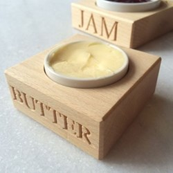 Butter holder with dish 3.2 x 15 x 8cm