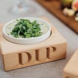 Dip holder with dish 3.2 x 10.5 x 10.5cm