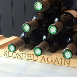 Six bottle wine rack 4 x 51 x 15cm