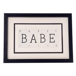 BABE Small frame, 40 x 30cm