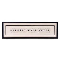 HAPPILY EVER AFTER Large frame, 76 x 20cm