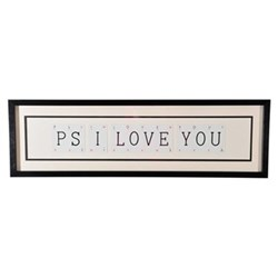 PS I LOVE YOU Large frame, 76 x 20cm