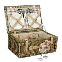 Picnic hamper 4 person 45 x 30 x 19cm
