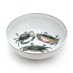 Seaflower Collection Serving bowl, 28cm, Blue Crab