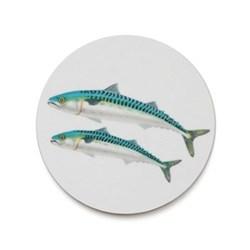 Seaflower Collection Coaster, 10cm, Mackerel