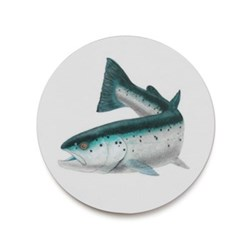 Seaflower Collection Coaster, 10cm, Atlantic Salmon