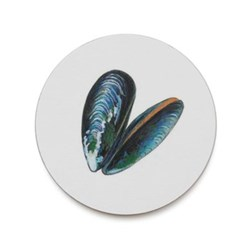 Seaflower Collection Coaster, 10cm, Mussel