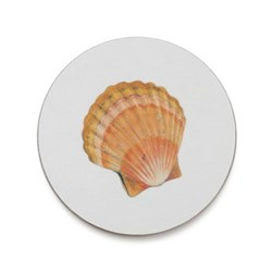 Seaflower Collection Coaster, 10cm, Scallop