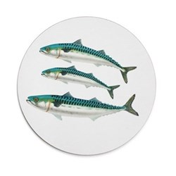 Seaflower Collection Tablemat, 28cm, Mackerel