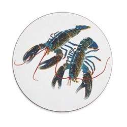Seaflower Collection Tablemat, 28cm, Blue Lobster