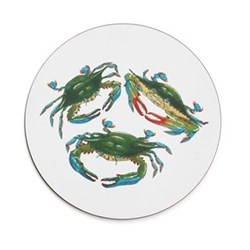 Seaflower Collection Tablemat, 28cm, Blue Crab