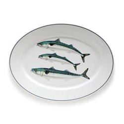 Seaflower Collection Large oval platter, 42cm, Mackerel