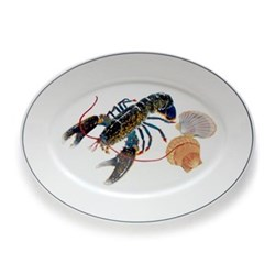 Seaflower Collection Large oval platter, 42cm, Blue Lobster