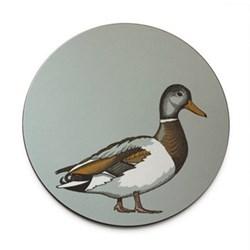 Faunus Round tablemat, 25.5cm, Mallard