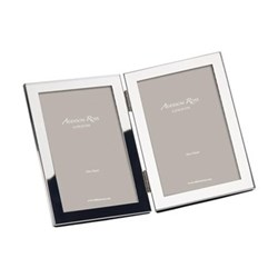 "Double Photograph frame, 4 x 6"", silver"