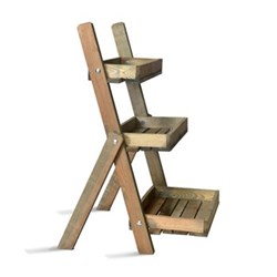 Aldsworth Pot ladder, H91 x W48 x D59cm, oak