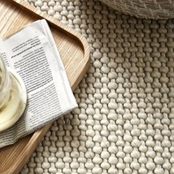Hampton Rug, W170 x L240cm, ivory looped wool