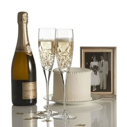 Forever Pair of love champagne flutes