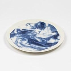 Indigo Storm - Swirl by Faye Toogood Dinner plate, D28.5cm