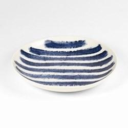 Indigo Rain by Faye Toogood Pasta Bowl, D25 x H3.75cm