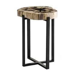 Petrified wood lamp table 55 x 40-50cm