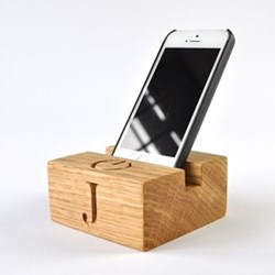 Bespoke engraved phone stand L10 x W10 x D4.5cm