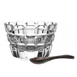 Salt dish and spoon H9cm