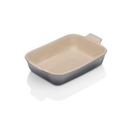 Stoneware Rectangular dish, 32 x 28 x 6.5cm - 3.85 litre, flint