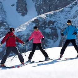 Ski lessons for two