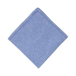 Feather stitch Set of 4 napkins, 54 x 54cm, blue