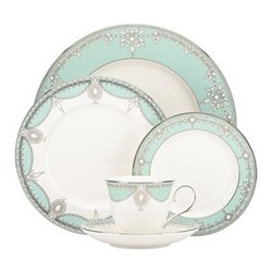 Empire Pearl - Turquoise 5 piece place setting