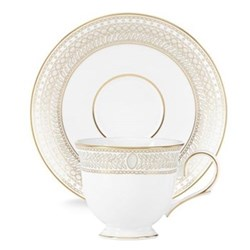 Gilded Pearl Teacup and saucer