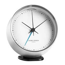 Koppell Alarm clock, 10cm, stainless steel and white