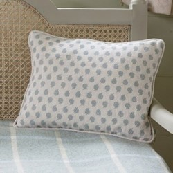 Nina Linen cushion, 40 x 30cm, sail blue