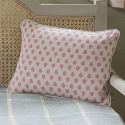 Nina Linen cushion, 40 x 30cm, rose
