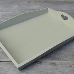 Wooden tray, 40 x 30cm, Celadon