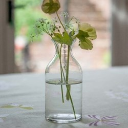 Flower bottle, medium, glass