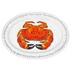 Crab Oval platter, 39 x 26cm