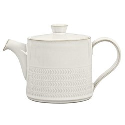 Natural Canvas Teapot, 0.92 litre, textured