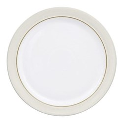 Natural Canvas Dinner plate, 27 x 2.5cm