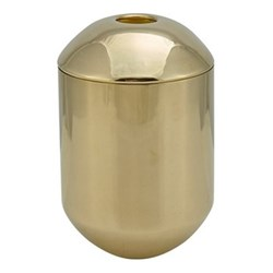 Form Tea caddy, H12.5 x D8.5cm, brass