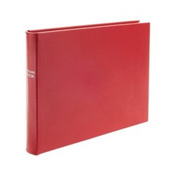 Chelsea Lined landscape visitors book, 22.3 x 28cm, poppy leather