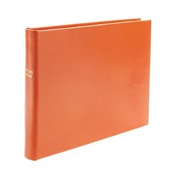 Chelsea Lined landscape visitors book, 22.3 x 28cm, tangerine leather