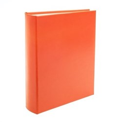 Chelsea Portrait photo album, 31.1 x 24.1cm, tangerine leather