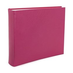 Chelsea Landscape photo album, 31 x 36.5cm, fuchsia leather