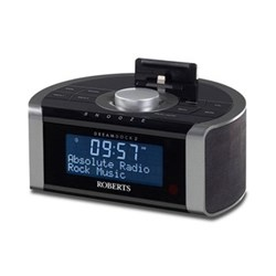 DAB/DAB+/FM RDS digital stereo clock radio with dock for iPod and iPhone